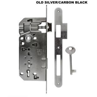 Binnendeurslot AGB 50 / 90 old silver-carbon black