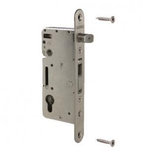 Cilinderhaakslot H-WOOD doornmaat 60mm afstand 92mm inox