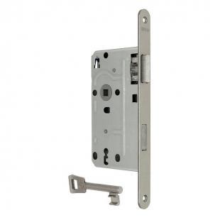 KFV 104 BB voorplaat 24mm / 55 / 72 DIN links zilver